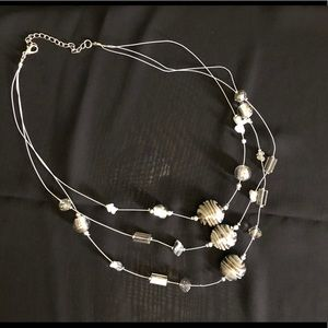 3 tiered beaded necklace